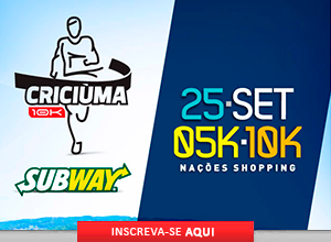 CRICI�MA 10K SUBWAY� - 2016 - 25/09/2016 - Crici�ma / SC